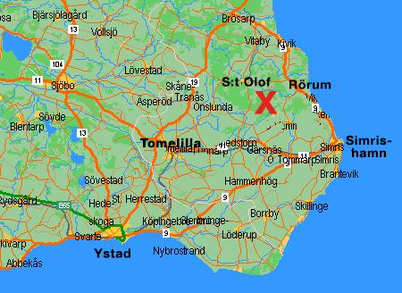 rörum österlen karta Hyra stuga i Elmhult på Österlen rörum österlen karta